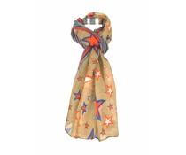 Moderne sjaal bruin met sterrenprint