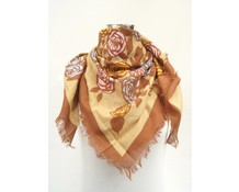 Vierkante zomerse bloemmotief sjaal