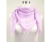 Uni Sjaal vierkant met studs lila