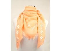 Uni Sjaal vierkant met studs oranje