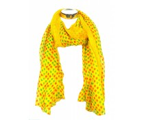 Mooie sjaal geel met sterren
