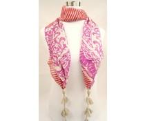 Passigatti Mooie Georgette sjaal met kwastjes