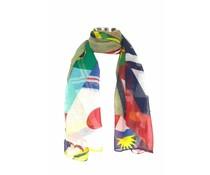 Sjaal met multi vlaggenprint