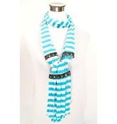 Hippe sjaal met streep design blauw