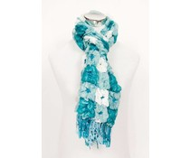 Elastische sjaal turquoise