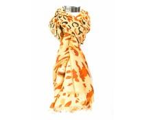Paterprint sjaal bruin