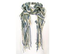 Los gebreide sjaal Deep Blue