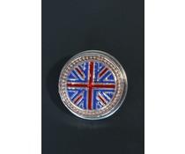 Button met Union Jack vlag