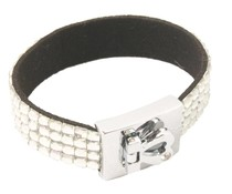 Fashion armband zilver