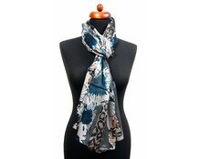 Trendy panterprint sjaal