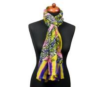 Trendy fantasieprint pareo sjaal geel