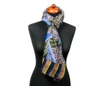Trendy fantasieprint pareo sjaal paars