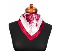 Sjaaltje met bloemprint rood