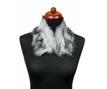 Imitatiebont- kraag sjaal grijs