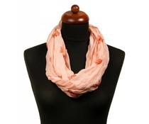 Col sjaal met uilenprint roze