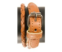 Sjaals4you.nl Bruin Leather Look armband