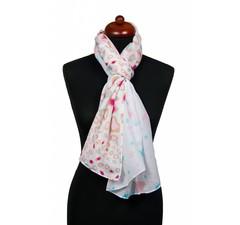 Sjaal wit met sterren