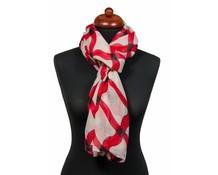 Ruitmotief sjaal rood