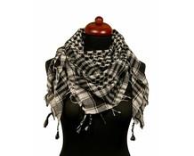 Leuke Arafat sjaal wit/zwart