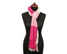 Sjaal fijn gebreid roze
