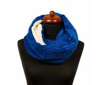 Warme col sjaal blauw