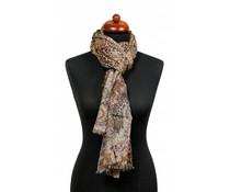 Sjaal met fantasieprint bruin