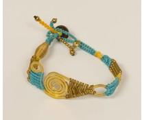 Ibiza style armband blauw
