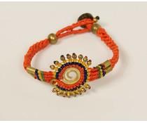 Ibiza style armband oranje
