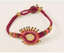 Ibiza style armband paars