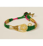 Ibiza style armband groen