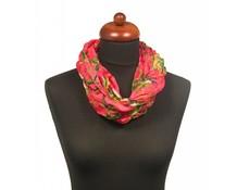 Col sjaal papegaaien print roze