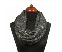 Gebreide col sjaal grijs