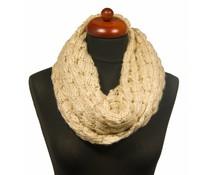 Gebreide col sjaal creme