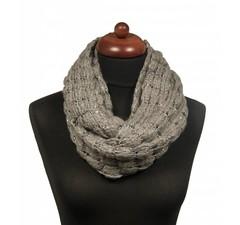 Gebreide col sjaal lichtgrijs