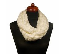 Gebreide col sjaal wit