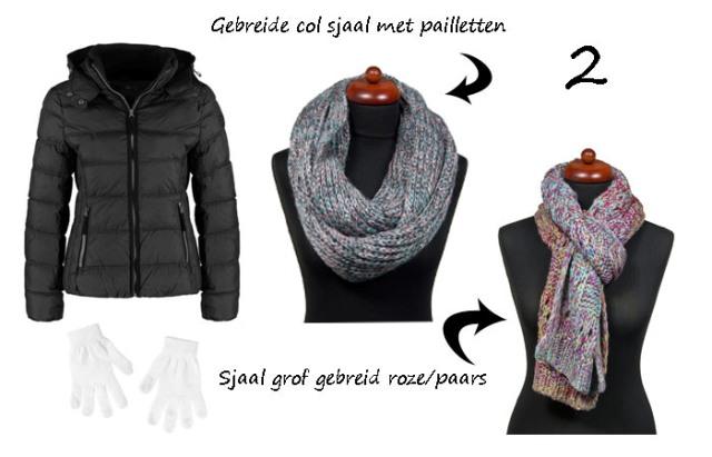 Sjaal met winterjas