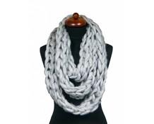 Col sjaal grijs grof gebreid
