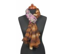 Sjaal met roze bloemenprint