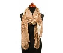 Trendy sjaal bruin