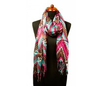 Sjaal met zigzagmotief