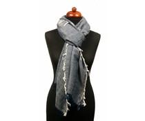 Sjaal grijs/blauw XL