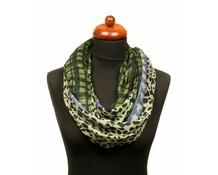 Col sjaal panterprint blauw