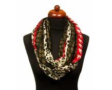 Col sjaal panterprint rood