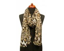 Passigatti Panterprint sjaal bruin