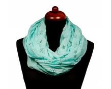 Col sjaal met sterren groen