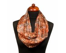 Panterprint sjaal bruin