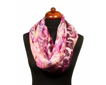 Col sjaal met bloemprint