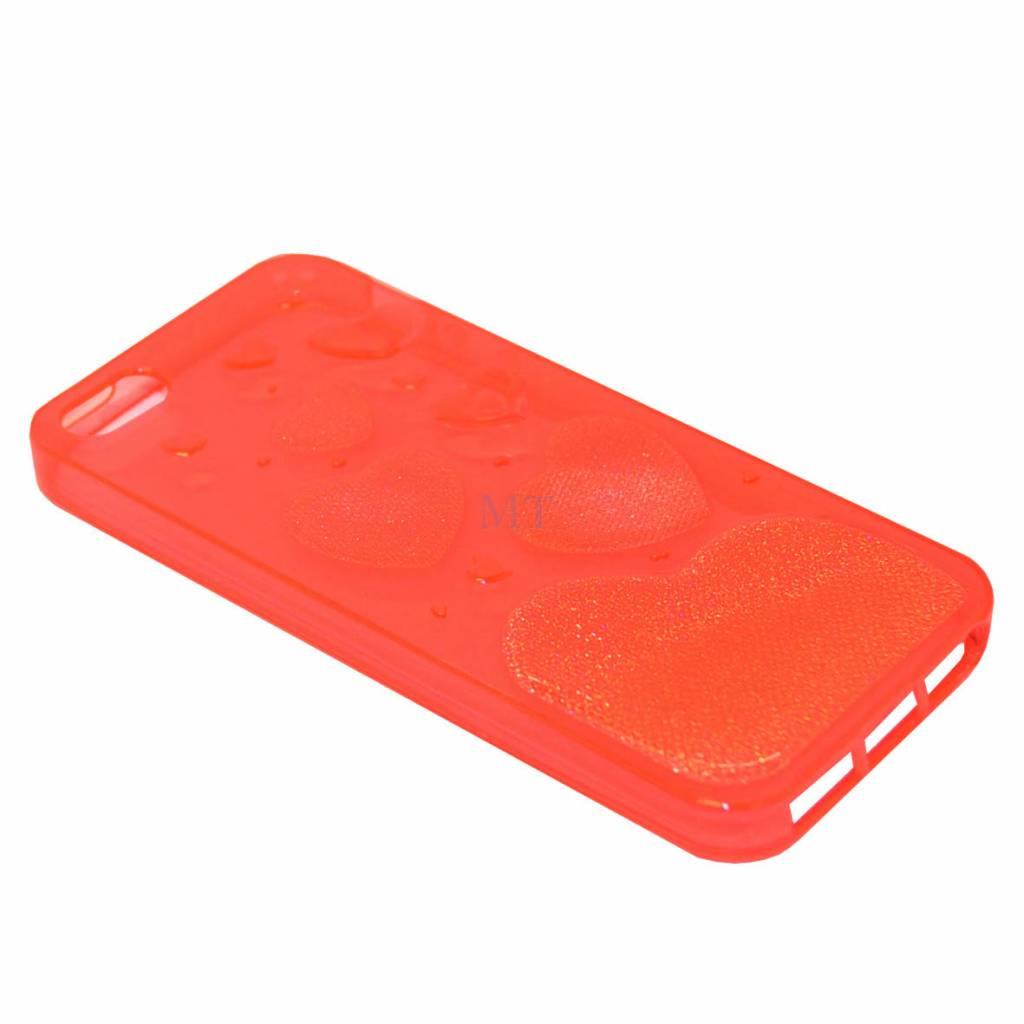 Heart Print Silicone Case 6G Plus