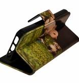 Galaxy S6 Edge G925 Kitty & Dog Book Case