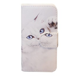 Galaxy A3 A300F White Cat Book Case